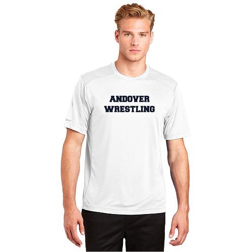 White Short Sleeve Performance Tee Andover Wrestling