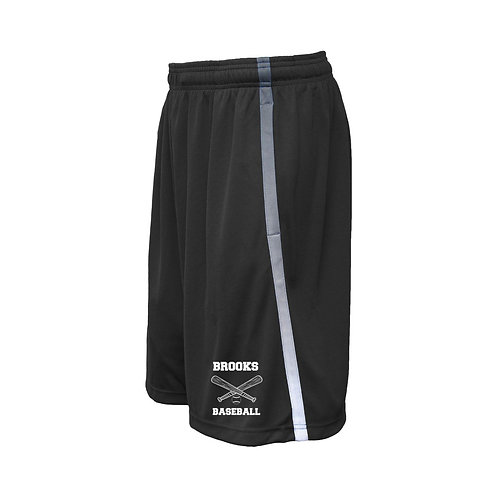 Black Pennant Shorts Brooks Baseball