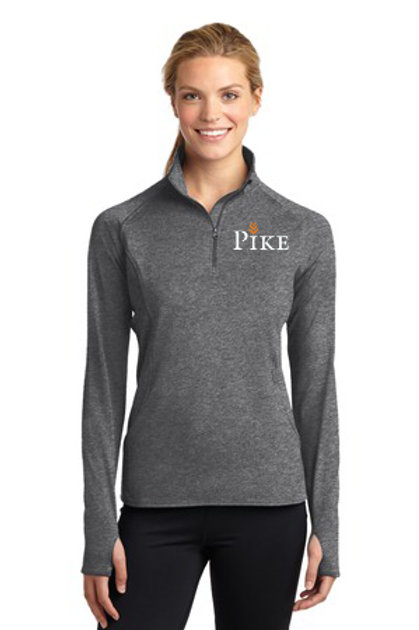 Adult Ladies Sport Tek Charcoal Quarter Zip