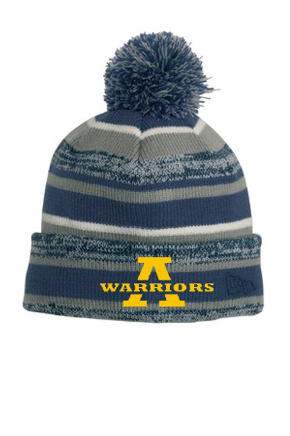 Navy Pom Pom Hat AHS Football