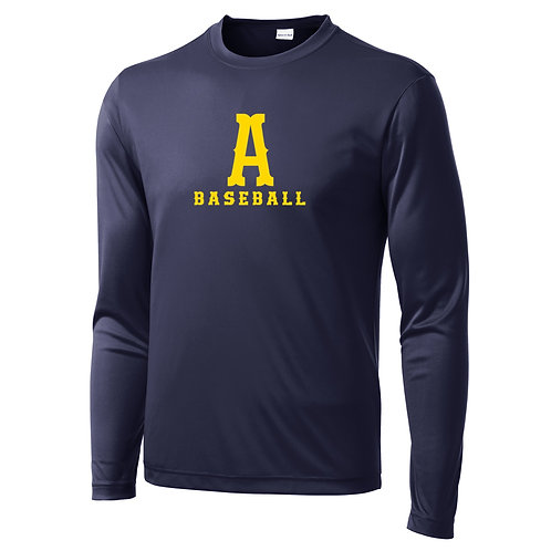 Navy Sport-Tek Performance Long Sleeve Tee Andover Baseball