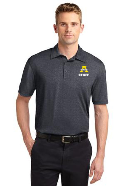 Graphite Heather Sport Tek Staff Polo