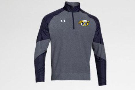 Navy/Gray UA Fleece 1/4 Zip AHS Boys Soccer
