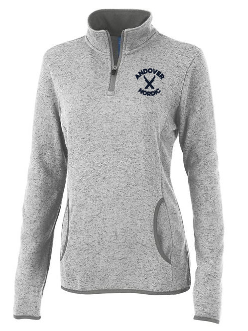 Women's Gray Heather Fleece 1/4 Zip PA Ski
