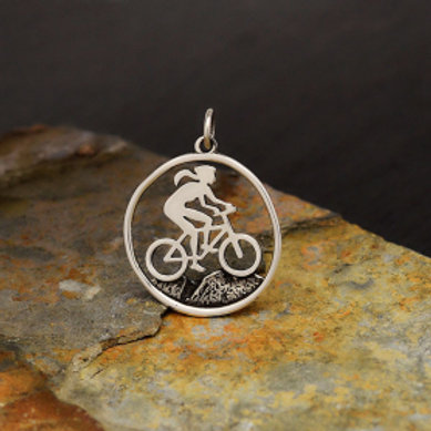 """4141. GIRL ON MOUNTAIN BIKE (SPECIFY 16"""" OR 18"""" CHAIN)"""
