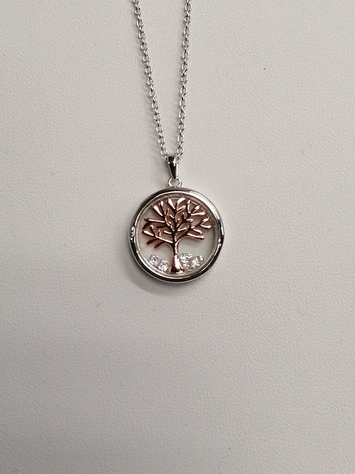 P4186RC16 ASTRA (16mm) TREE OF LIFE NECKLACE