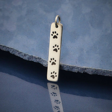 1875.  LONG PAW PRINT NECKLACE