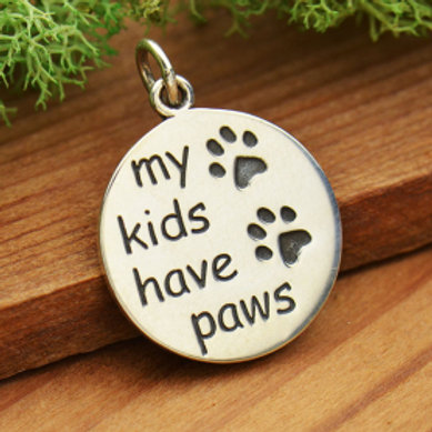 """6035 PAW NECKLACE, (PLEASE SPECIFY 16 OR 18"""" CHAIN)"""