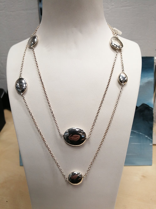 SILVER NECKLACE, PEBBLES COLLECTION