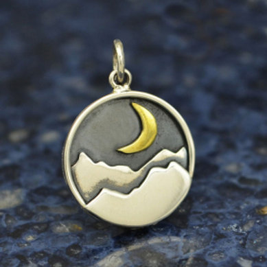 """3253 MOON LT MOUNTAIN NECKLACE (PLEASE SPECIFY 16 OR 18"""" CHAIN)"""