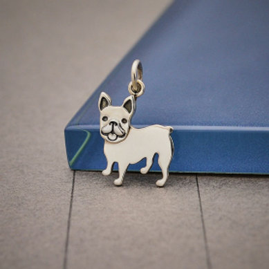 """6251 FRENCH BULLDOG NECKLACE.... SPECIFY 16 OR 18"""" CHAIN"""