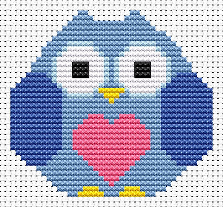 Sew Simple Heart Owl