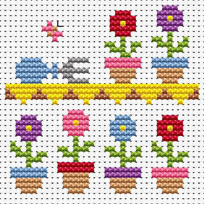 Simple Stitches Flower Shelf