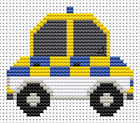 Sew Simple Police Car