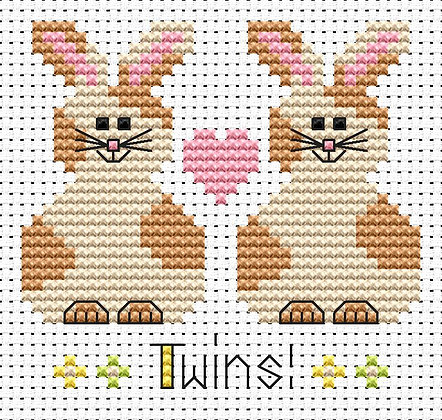 Simple Stitches Twin Bunnies