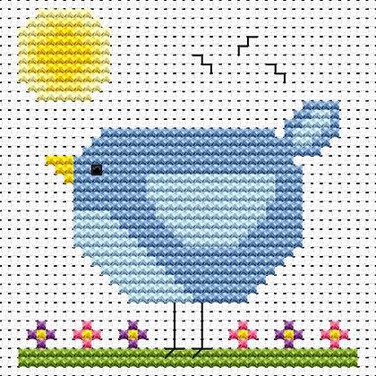 Simple Stitches Bluebird