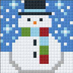 Snowman Small Magnet Kit