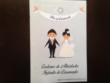 Novidade: Caderno infantil de atividades para casamento