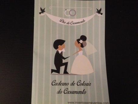 Caderno de Colorir do Casamento: mais uma novidade para as crianças para seu grande dia!