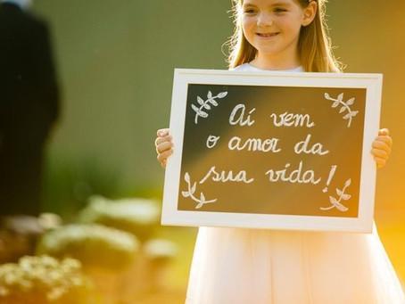 Entrada com crianças: dicas com os pequenos e ideias fofas para seu casamento