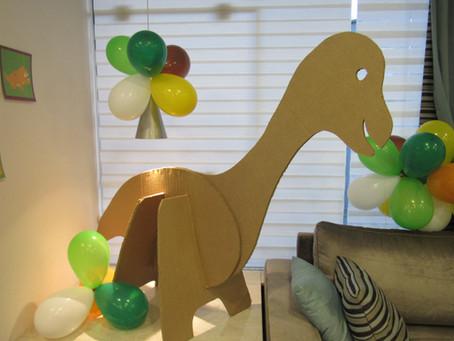 Eventos reais: os 3 anos do Mateus e seu aniversário de Dinossauros