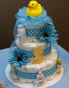 5 ideias de bolo e decoração com fraldas