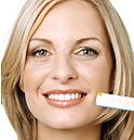 dentes brancos e brilhantes