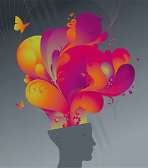 A brain exploding with colour and life and joy and hope and fun
