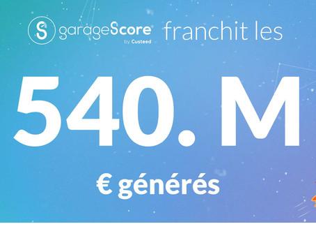 [A LA UNE] - Le chiffre : 540 Millions d'euros