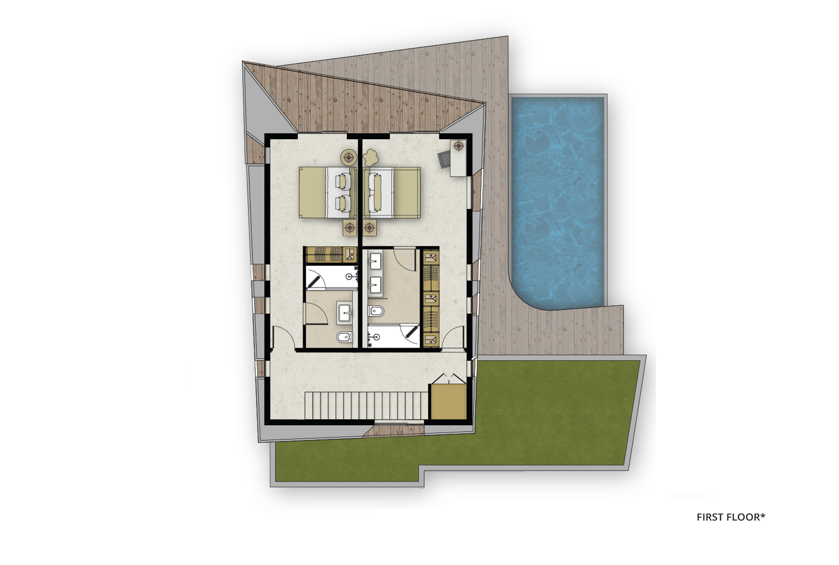 floor plan villas FF