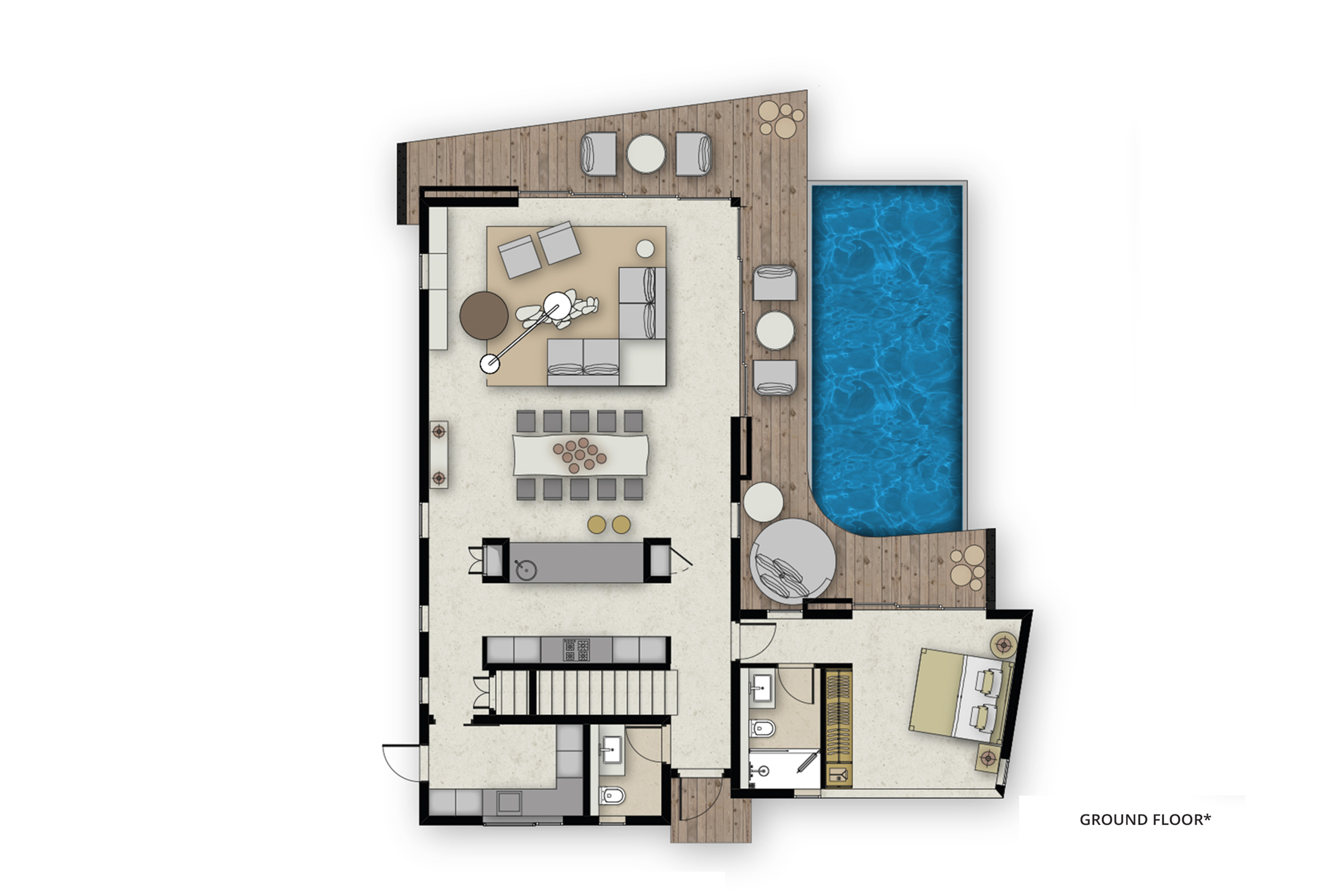 floor plan villas GF