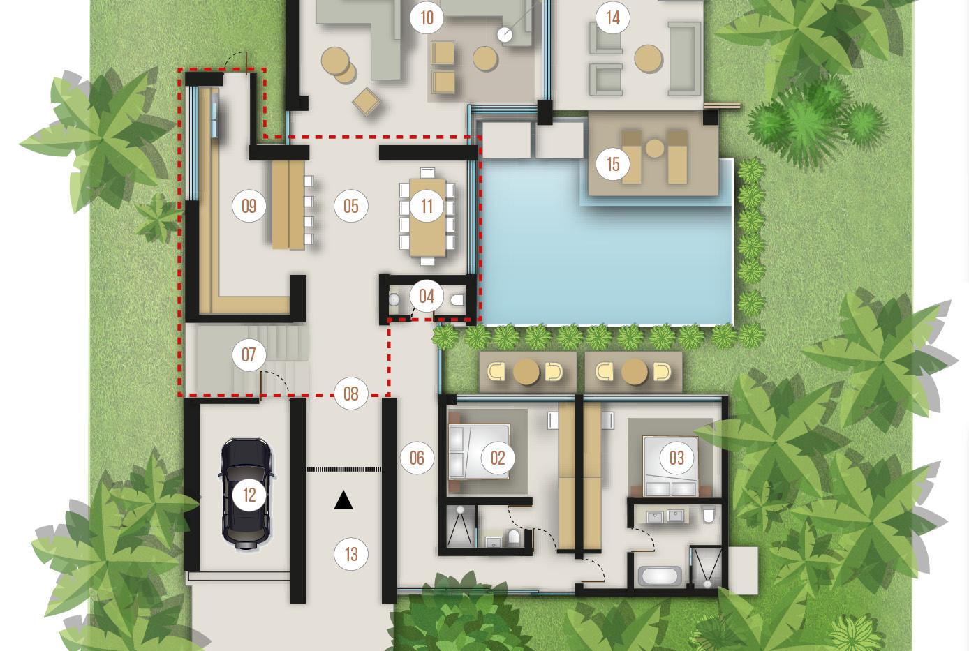 Villa 2b - 3 bedrooms