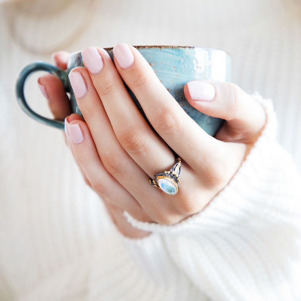 Jewellery Photographer, Jewellery Photography London, Etsy Photographer, Jewellery Photos, Bristol product Photographer, Product Photography Bristol, Cup, Hands, Ring, Jewellery, Nails, Cosy, natural Light