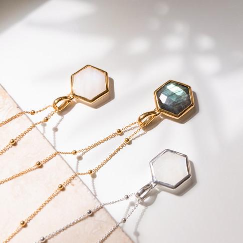 Three Gemstone Necklaces Jewellery Photo
