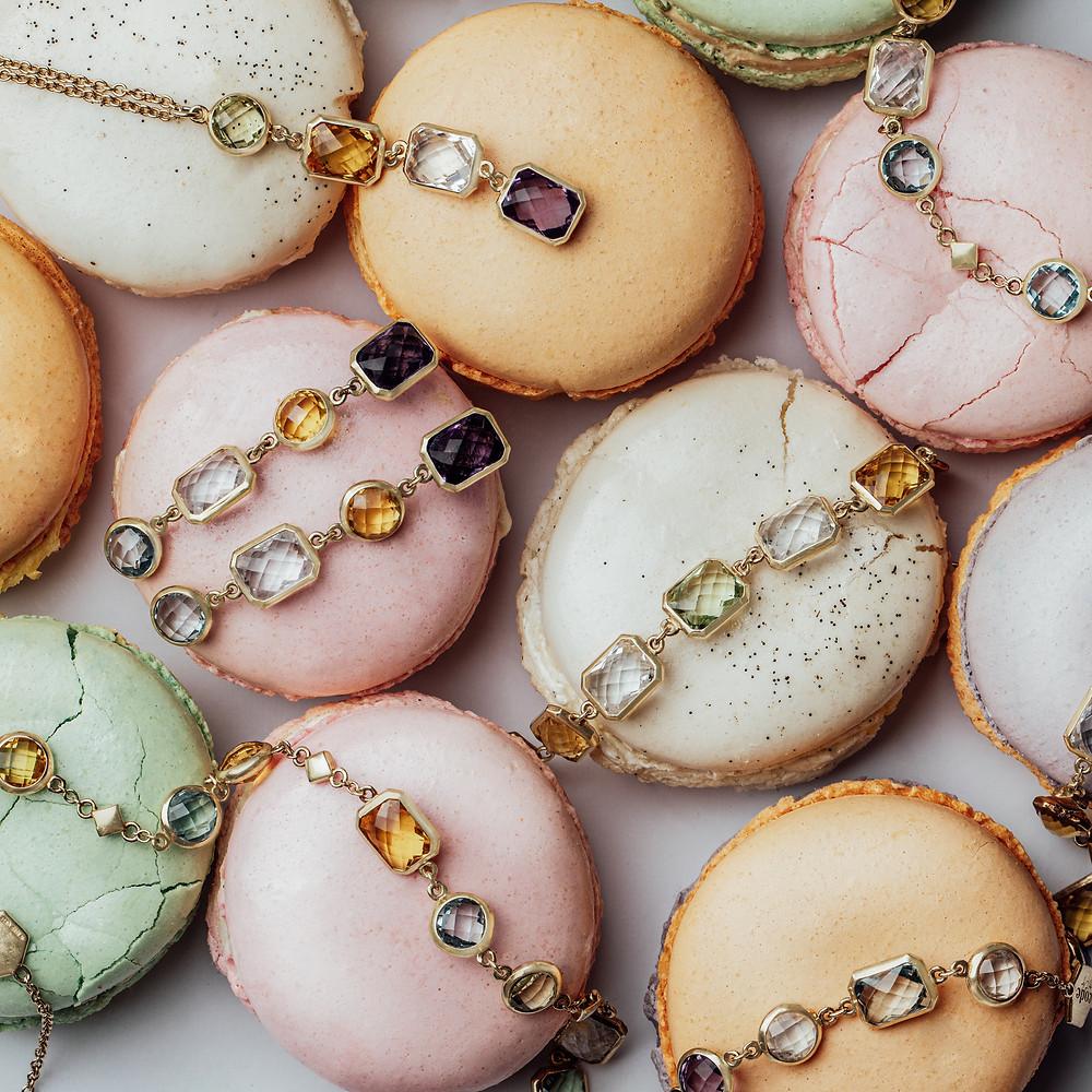 Gemstones, Jewellery, Necklaces, Earrings, Ruby, Quartz, Diamond, Macaroons, Jewellery Photography, Jewellery Photographer, Jewellery Photographer UK,