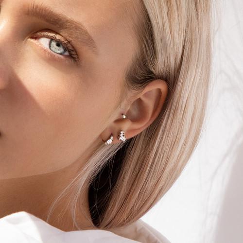 Minimal Jewellery Photography, Silver Ge