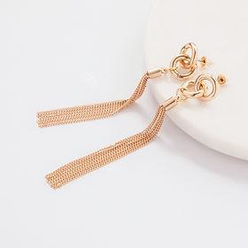 Gold Earrings, Long Earrings, Jewellery