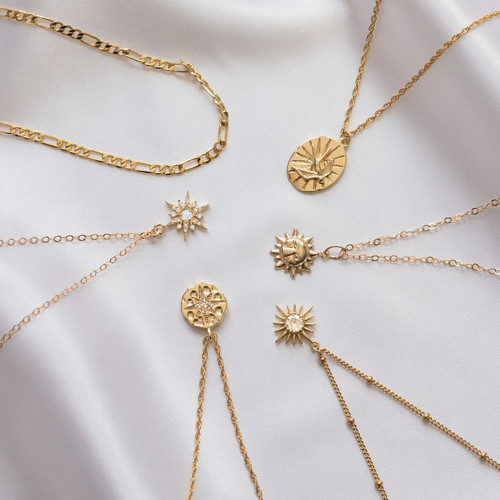 Gold Pendants and Necklaces, Jewellery P