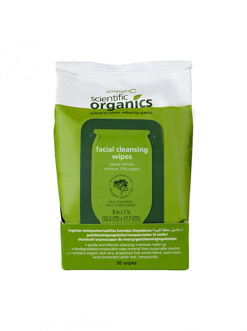 Emergin C Organics Facial Cleansing Wipes (30 wipes)
