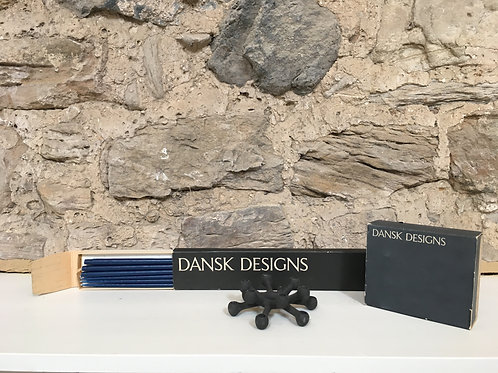 Candle holder and candles by Jens Quistgaard for Dansk