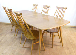 Ercol Grand Windsor Table and Chairs