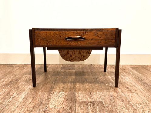 Danish rosewood sewing table