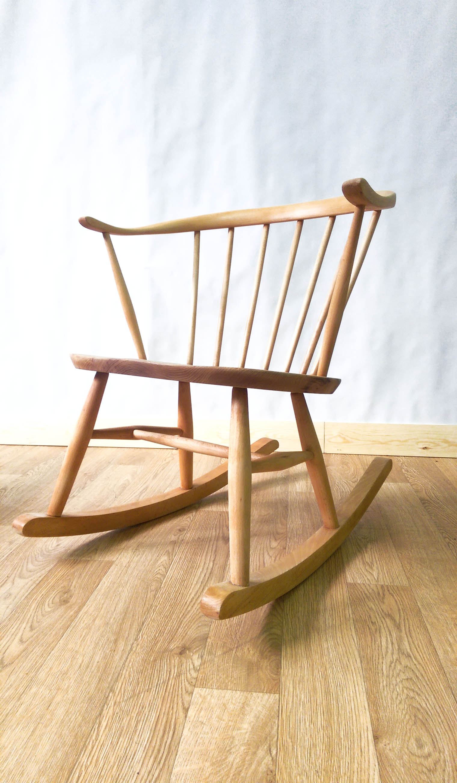Restored Ercol Cowhorn Rocking Chair