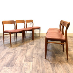 JL Moller Leather Chairs