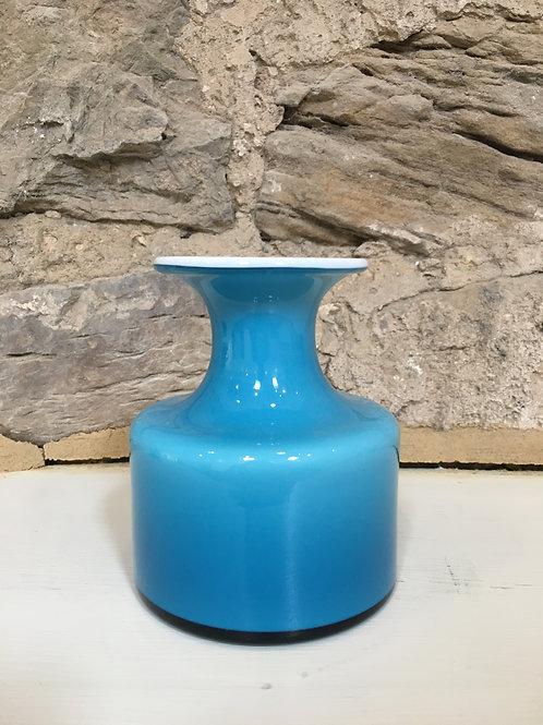 Blue Carnaby Vase by Per Lutken for Holmegaard