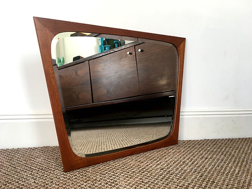 Danish Teak Beveled Mirror