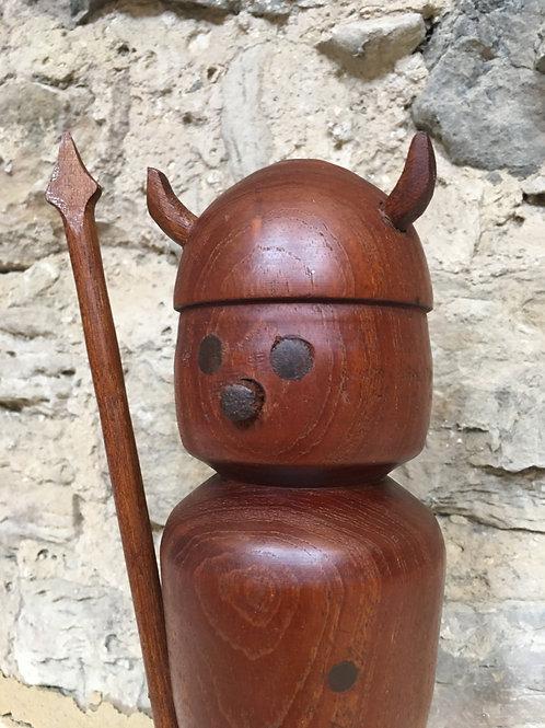 Danish Teak turned figure of a viking