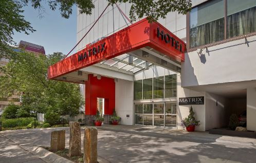 Matrix Hotel Front Entrance