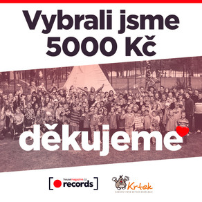 Vybrali jsme 5000 Kč. DĚKUJEME!