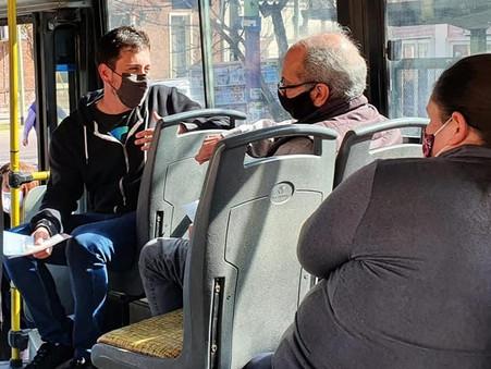 Alejo Sarna propuso reformar el transporte público de Campana